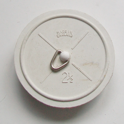 "2 1/2"" Extra Large White Rubber Sink Plug"